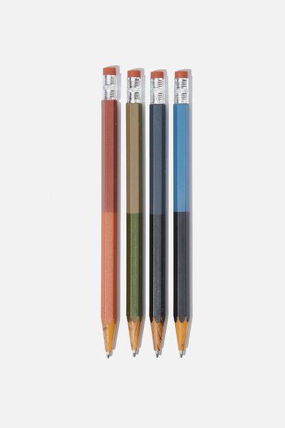 Pencil Pen Pack, TWO TONE