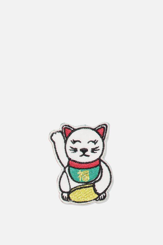Fabric Badge, LUCKY CAT