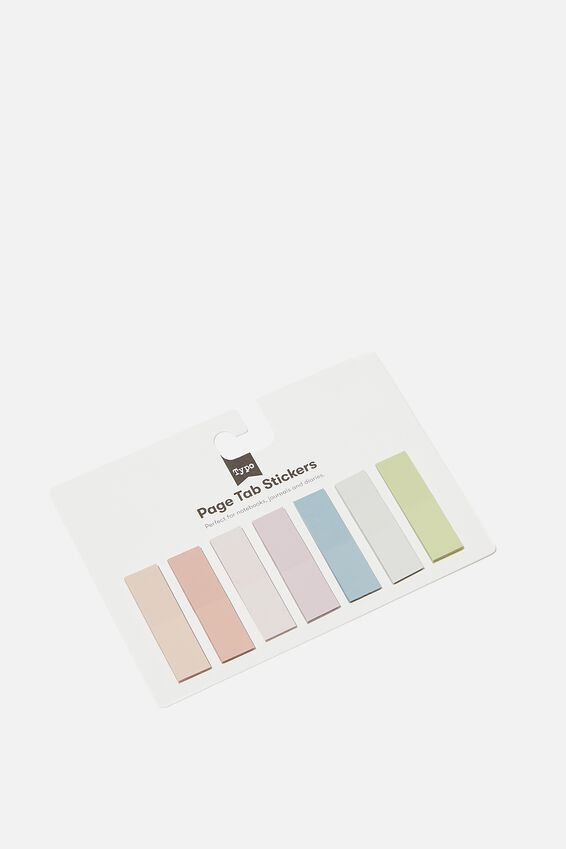 Page Tab Stickers, PASTEL