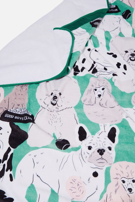 Printed Throw, DOG YARDAGE