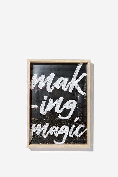 A4 Large Framed Print, MAKING MAGIC