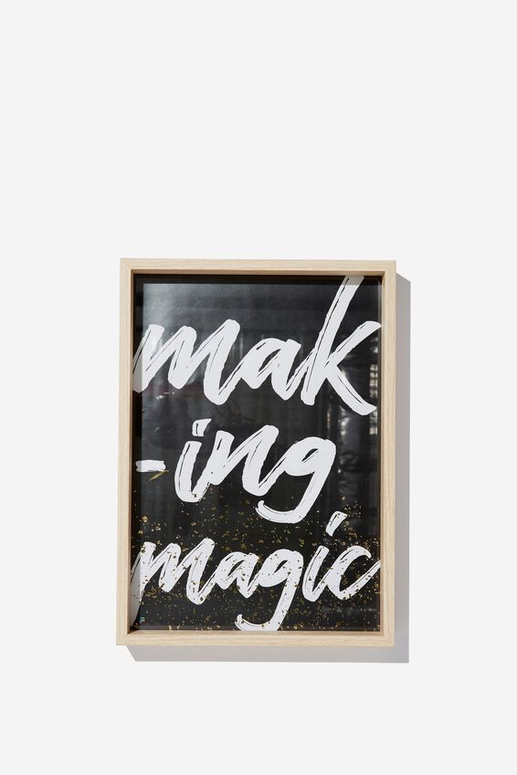 A4 Large Framed Print, MAKING MAGIC