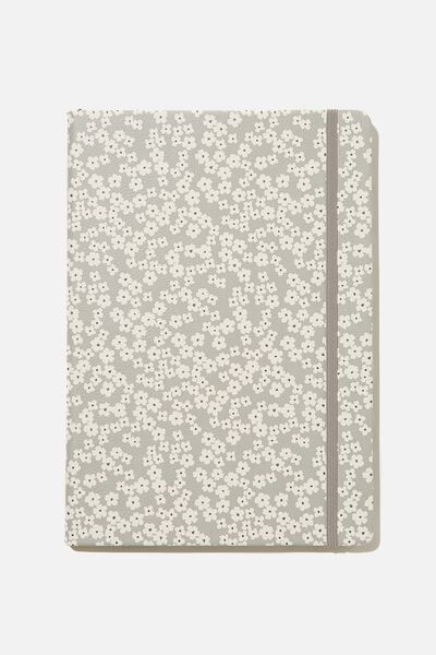 "A4 Buffalo Journal (8.2"" x 11.6""), PR CHERRY BLOSSOM COOL GREY"
