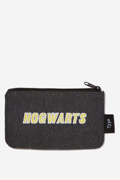 Canvas Pencil Case, LCN WB HP HOGWARTS PLACEMENT