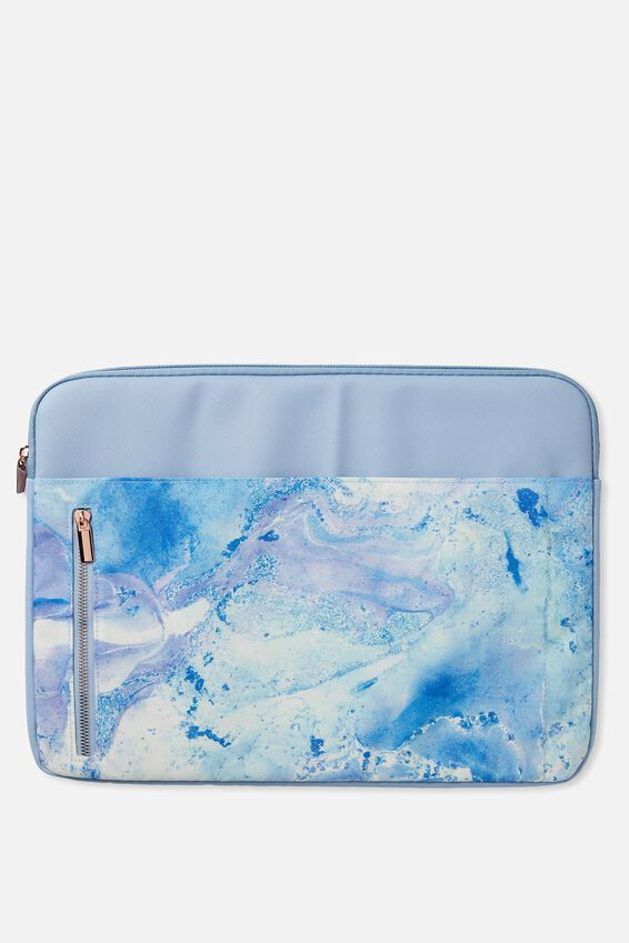 "Take Charge Laptop Cover 15"", BLUE MARBLE"