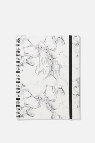 A5 Spinout Notebook - 120 Pages, MARBLE WHERE GOT TIME