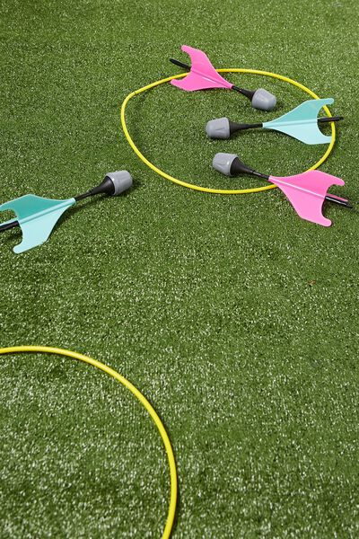 Lawn Darts Game, PINK AND BLUE SET