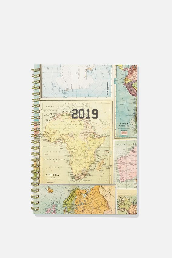 2019 Hardcover Spiral Diary, MAP