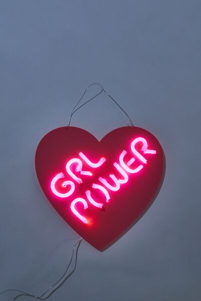 Led Wall Light, GIRL POWER HEART