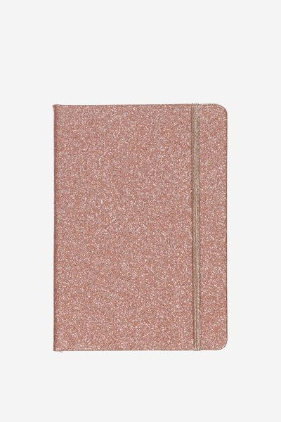 Medium Buffalo Journal, ROSE GOLD GLITTER