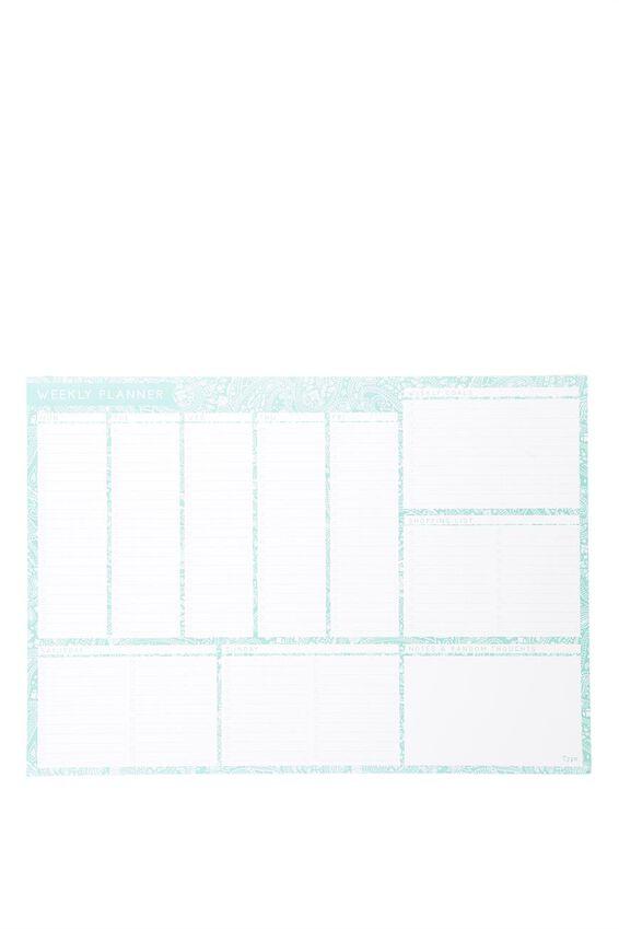 A2 Plan Ahead Planner, FRANKIE BLUE LACE PRINT
