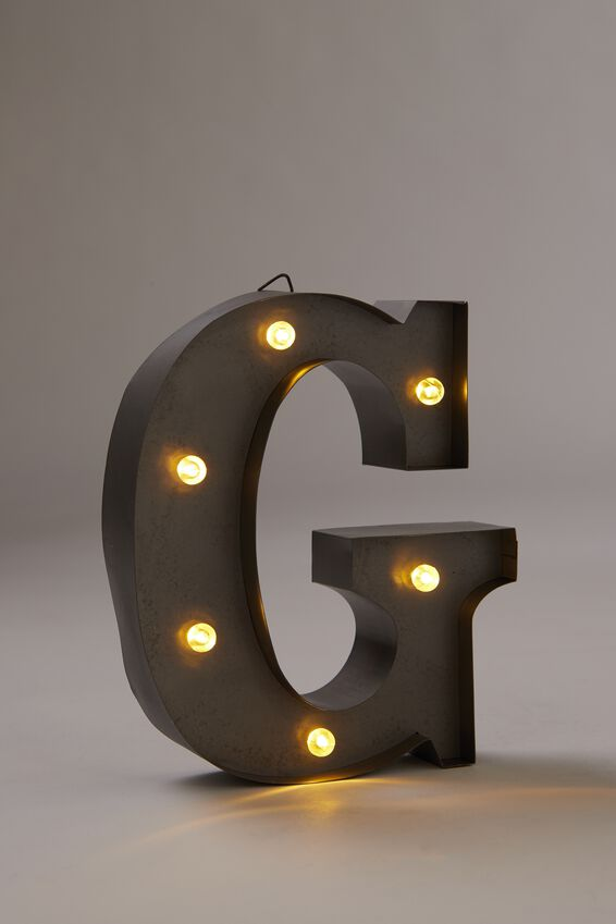 Midi Marquee Letter Lights 6.3inch, SILVER G