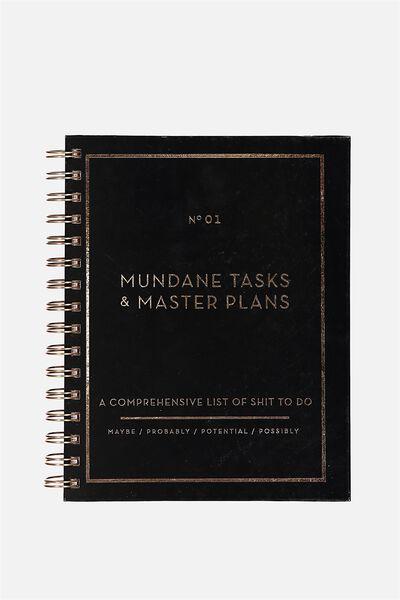 A5 Hardcover Notebook - 270 Pages, MUNDANE TASKS