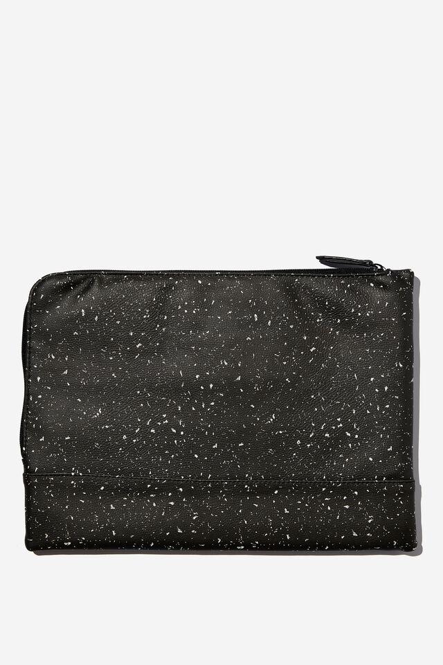 Oxford 13 Inch PU Laptop Case, SPECKLE TERRAZZO BLACK