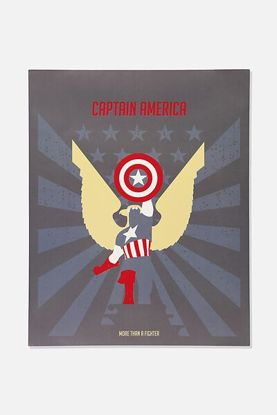 40 X 50 Limited Edition Print, LCN MARVEL CAPTAIN AMERICA