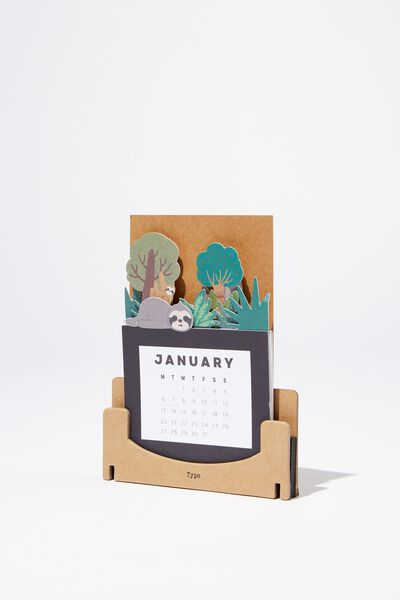 2020 Standing Novelty Calendar, SLOTH