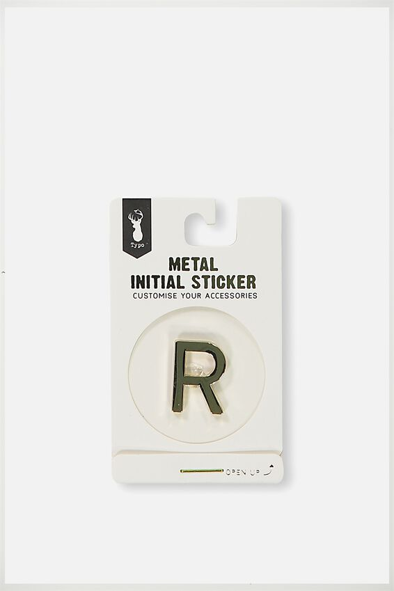 Metal Stickers, GOLD R