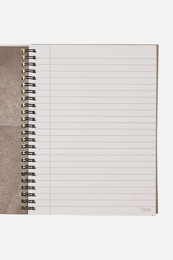 A5 Smiley Spinout Notebook Recycled, LCN SMI YELLOW FACE