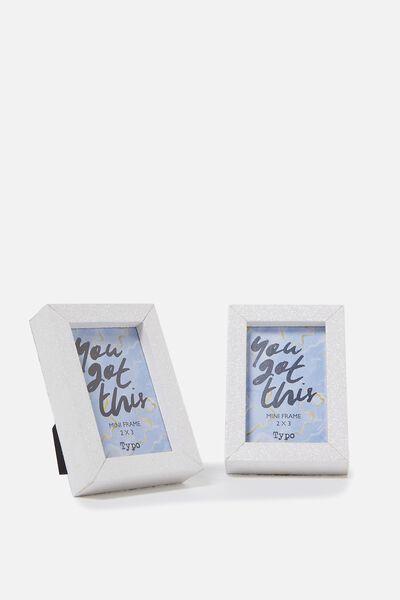 Mini Frames, WHITE GLITTER