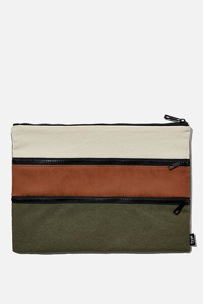 Keep It Together Pencil Case, KHAKI   TAN