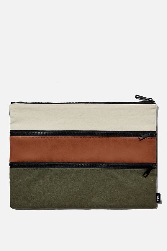 Keep It Together Pencil Case, KHAKI & TAN