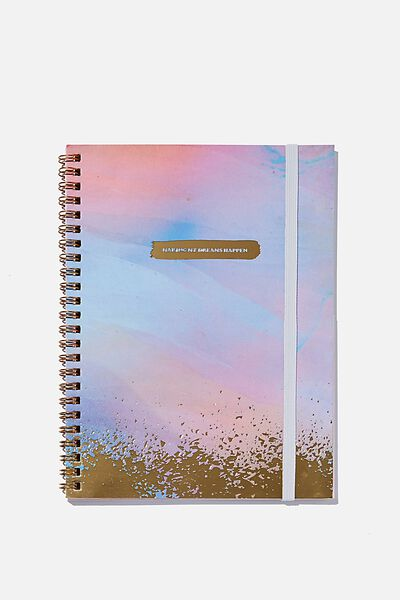 A5 Spinout Notebook Recycled, MAKING DREAMS HAPPEN