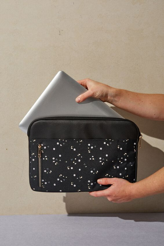 Take Charge 15 Inch Laptop Cover, DAISY MEADOWS