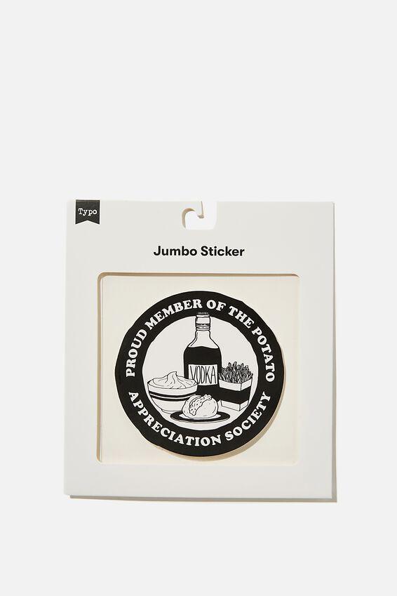 Jumbo Sticker, POTATO APPRECIATION SOCIETY