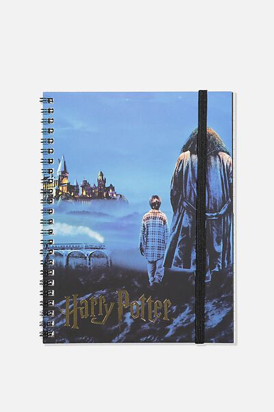A5 Spinout Notebook Recycled, LCN WB HPO HARRY & HAGRID