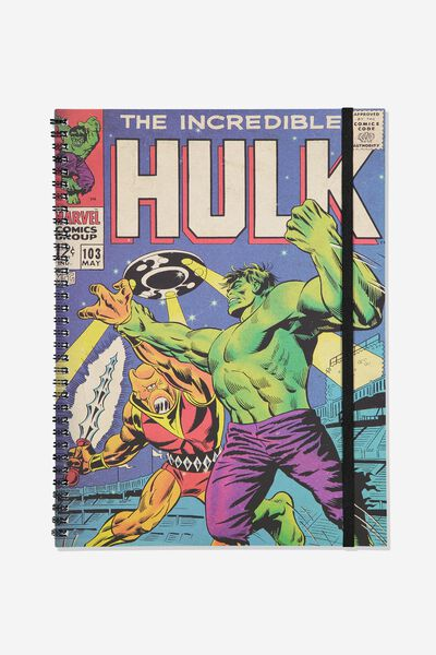 A4 Spinout Notebook Recycled, LCN MARVEL HULK