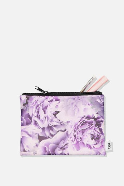 Squad Pencil Case, LILAC PEONIES