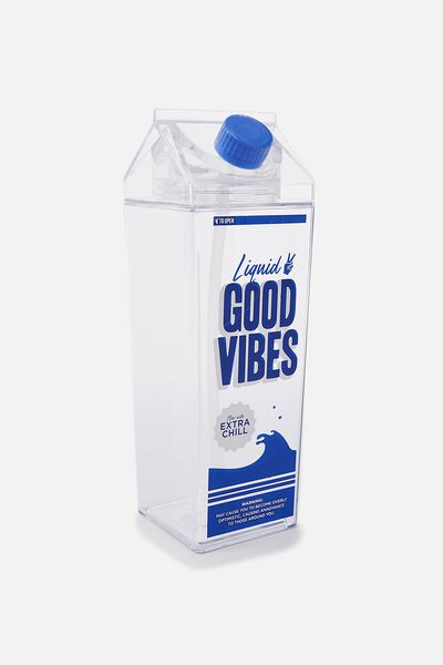 Carton Drink Bottle, GOOD VIBES