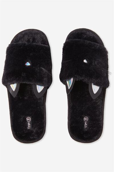 Slippers, FUR CAT
