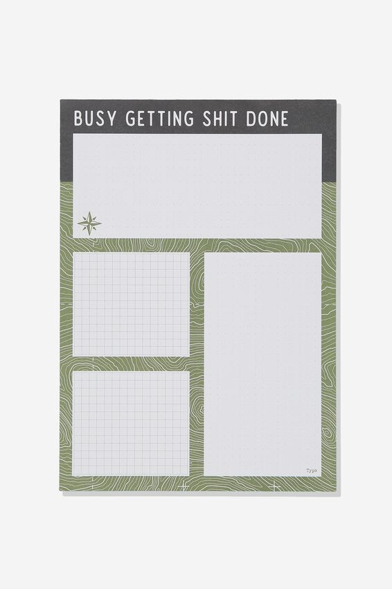 Large Plan Ahead Planner, GETTING SHIT DONE GREEN!