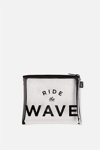 Spinout Pencil Case, RIDE THE WAVE