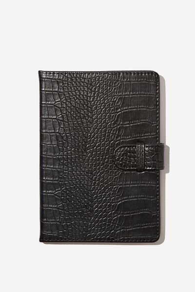 A5 Note Taker Dot Journal, BLACK CROC