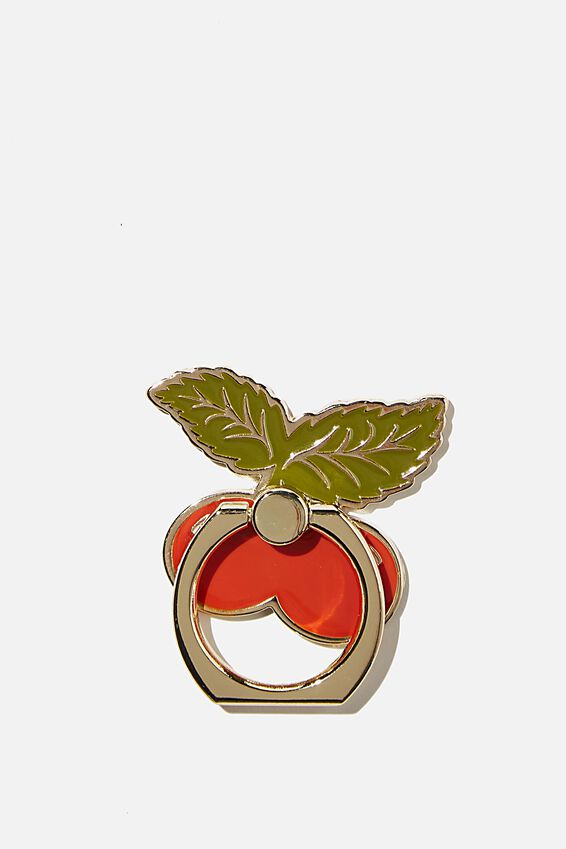 Enamel Phone Ring, CHERRY