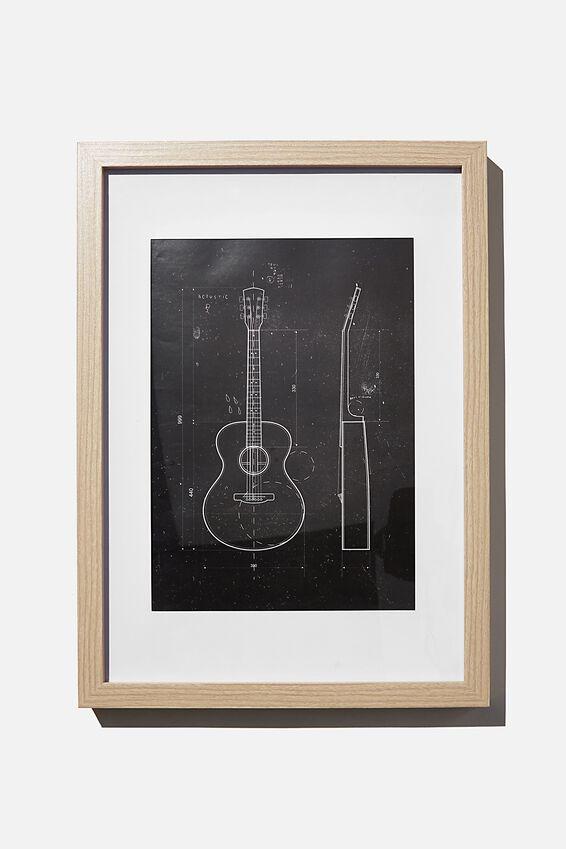 A4 Framed Print, MY GUITAR