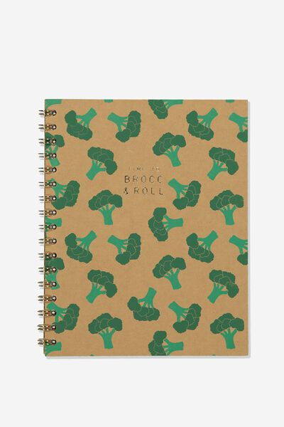 Premium Spiral Notebook, TIME TO BROC AND ROLL