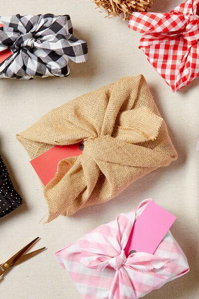 Fabric Wrapping Pack Large 1Pk, HESSIAN