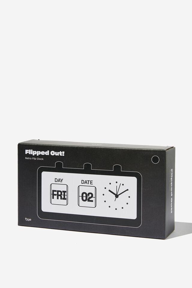 Retro Flip Clock, MATTE BLACK