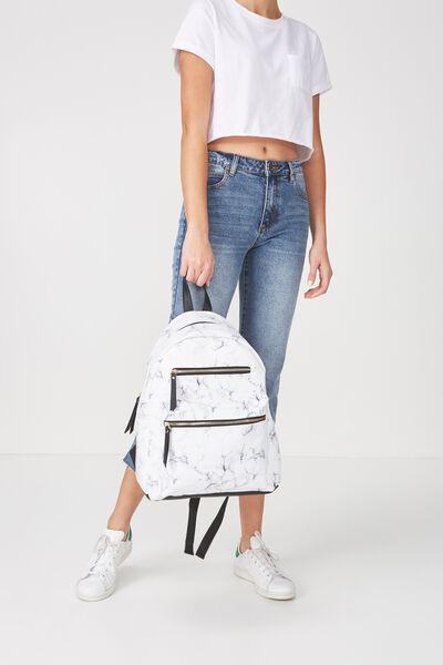 Campus Backpack, MARBLE & BLACK