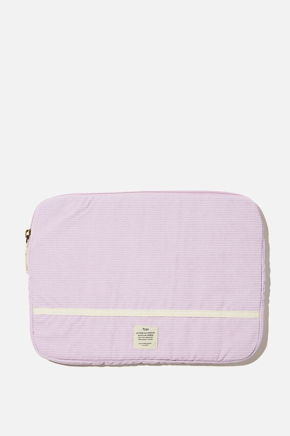 Take Me Away 13 Inch Laptop Case, PALE LILAC CORD