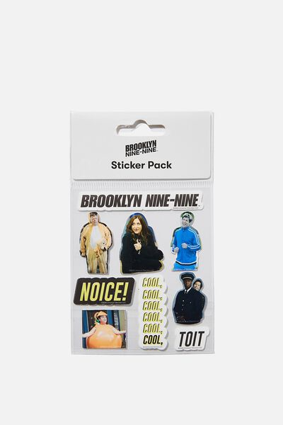 Licensed Sticker Pack, LCN UNI BR BROOKLYN 99