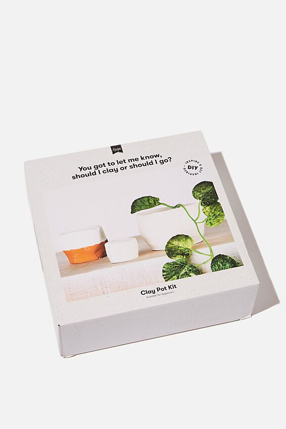 Clay Pot Kit, NATURAL