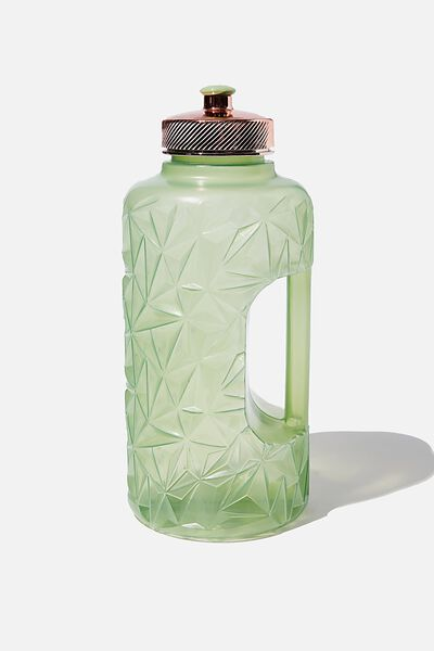 Faceted Drink Bottle, MINT LEAF