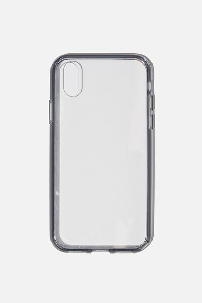 Snap On Protective Phone Case X, Xs, CLEAR WITH SEMI-TRANSPARENT BLACK