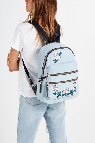 Berlin Backpack, CHAMBRAY WITH ROSES