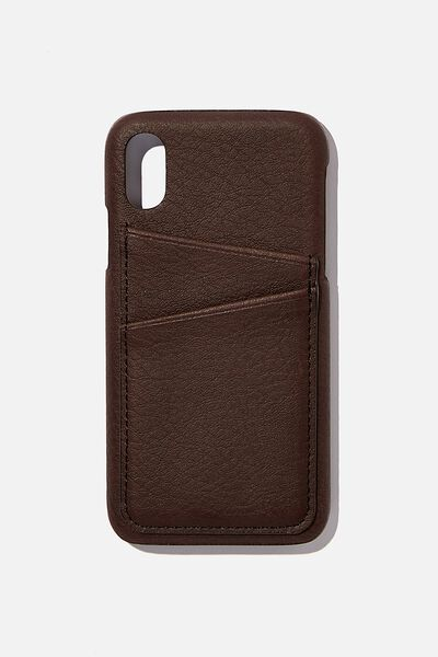 Cardholder Phone Case iPhone X, Xs, BITTER CHOC