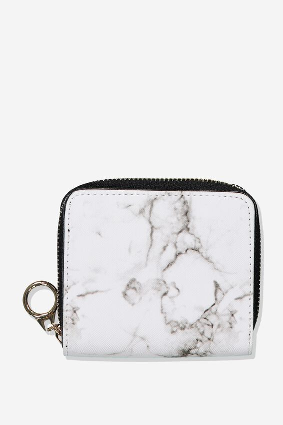 Mini Wallet, WHITE MARBLE